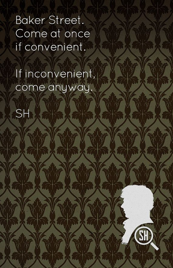 SALE Sherlock Poster Print 11 x 17 Glossy  221B by AndroidSheepFTW