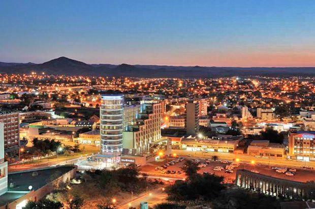 Windhoek, Namibia's capital city, at sunset. For visit: http://www.namibiacarrentals.com