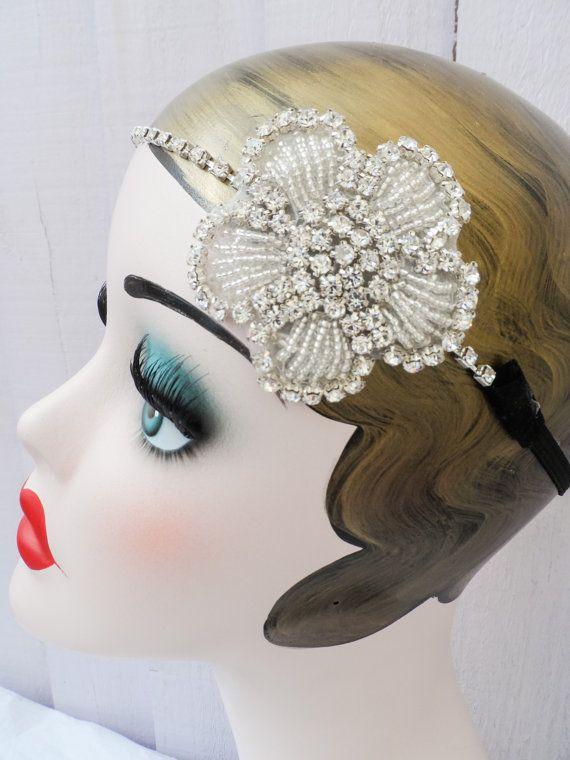 Stunning rhinestone Charleston Flapper 1920s by Mysecretdress