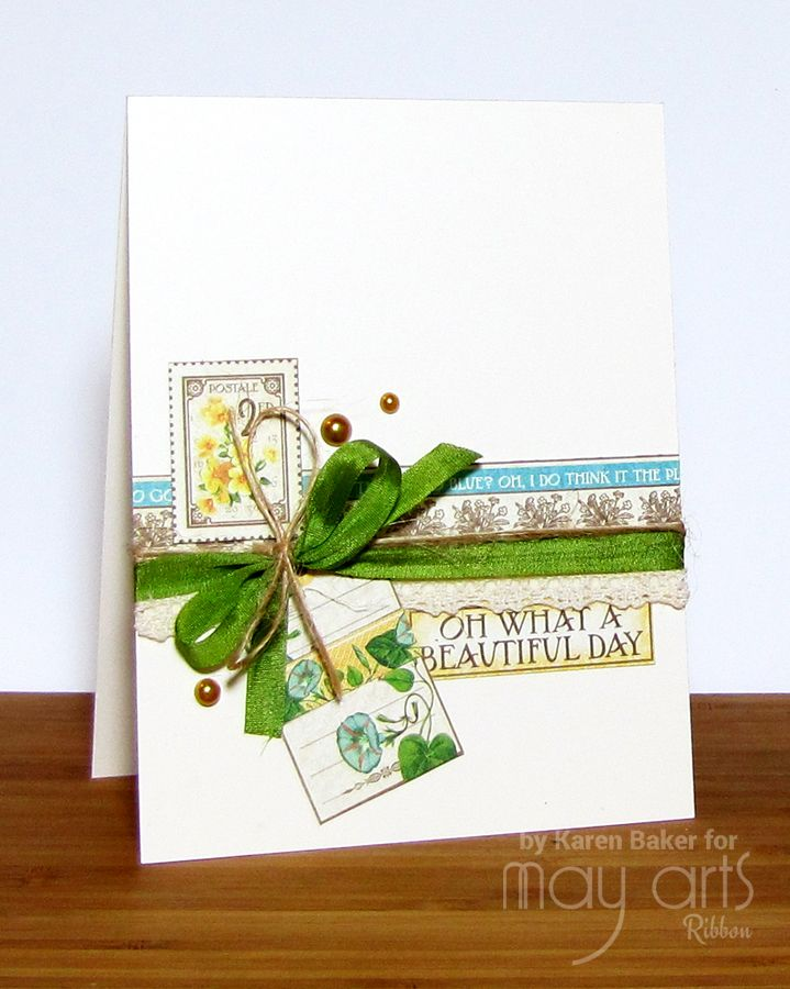 Card Making Ideas With Ribbon Part - 44: Card Making: A Beautiful Day