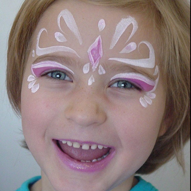 easy fairy face painting images. Black Bedroom Furniture Sets. Home Design Ideas