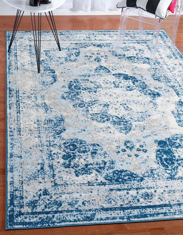 dcef1925f Brandt Tibetan Light Blue Beige and Ivory Area Rug