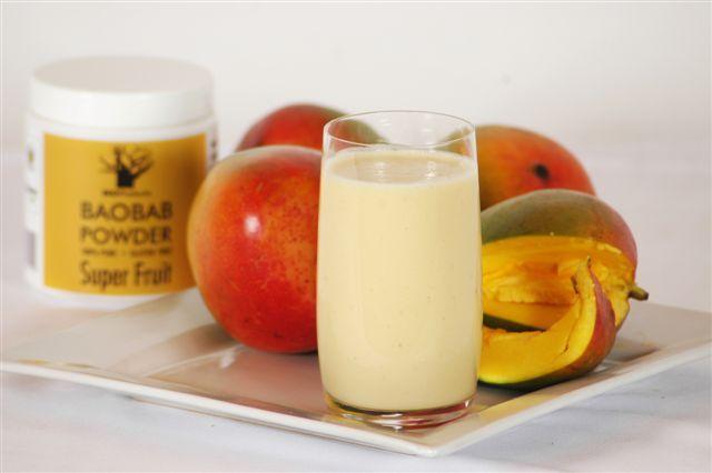 Baobab & Mango Smoothie http://www.ecoproducts.co.za/recipe/baobab-banana-smoothie-2