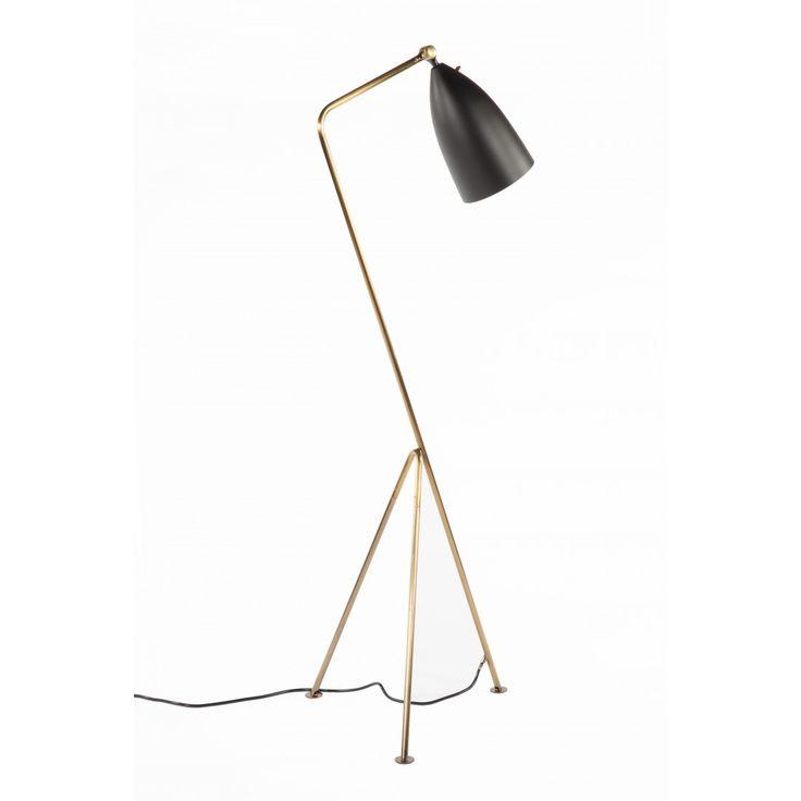 Mid-Century Modern Reproduction Grasshopper Floor lamp - Brass and Black Inspired by Greta Grossman