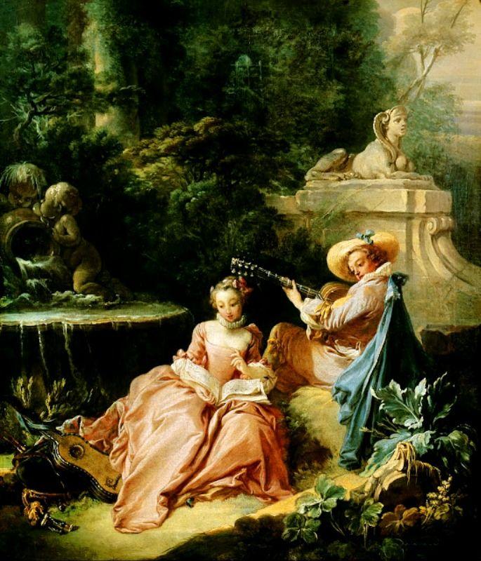 Music Lesson - François Boucher - 1749