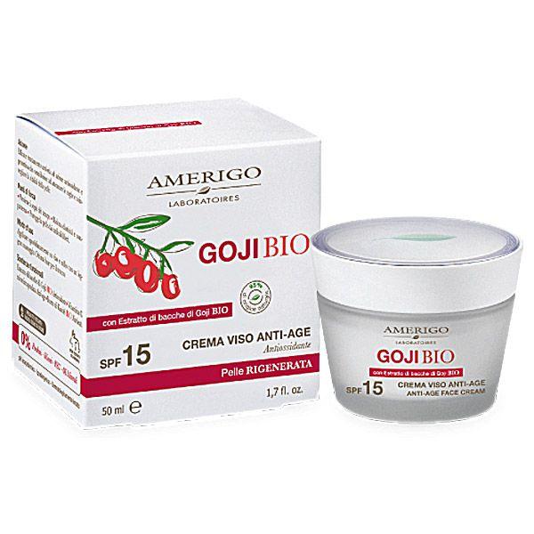 Amerigo Crema Viso Goji Anti-Age SPF15 Idrata in profondità, rende il viso più luminoso e disteso a tutte le età in vendita su adorabilenatura.