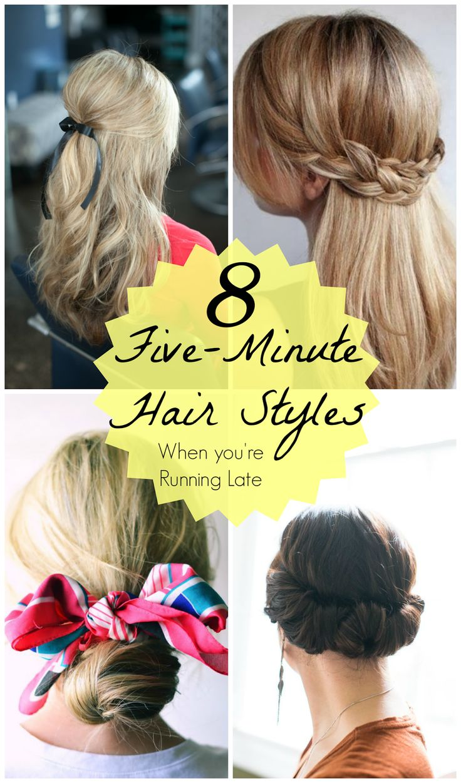 Running Late? 5 Minute Cute Hair Styles