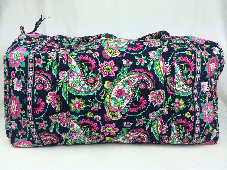 New Vera Bradley Large Duffel Petal Paisley Pattern Carry On Bag #VeraBradley