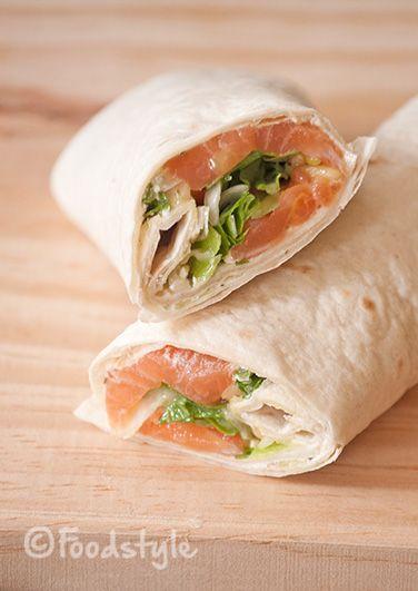 zalmwrap eenvoudig maar heerlijk recept voor lunch of als hapje