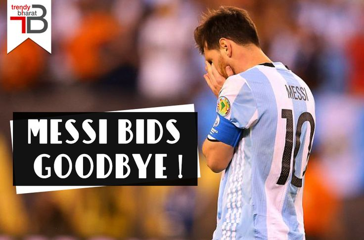Argentinian footballer Lionel Messi calls off to his international career. We bid goodbye to the great hero..  #lionelmessi #retirementofmessi