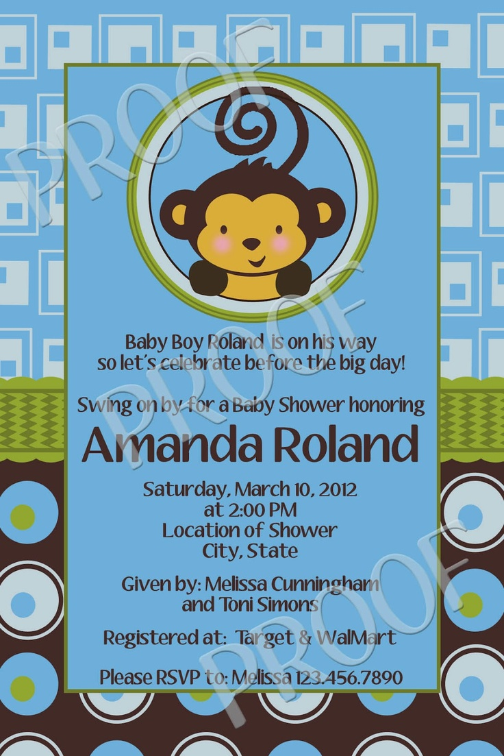71 best Monkey Boy Baby Shower & Birthday Party Ideas images on ...