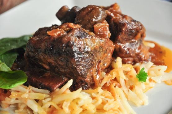 This slow-cooker favorite features beef short ribs in a tasty broth. Find this crockpot recipe and more at Food.com.