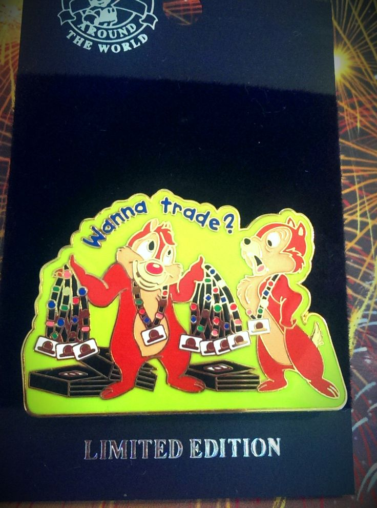 Wanna Trade Pin Series Chip and Dale $19.95- I love this! That's Kebin with all the lanyards and me yelling at him! Lol