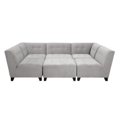 Vendome Modular Sectional from Z Gallerie - Like this color - Clean like white, but will hide dirt better?