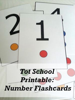 Tot School Printable: Number Flashcards 1-10