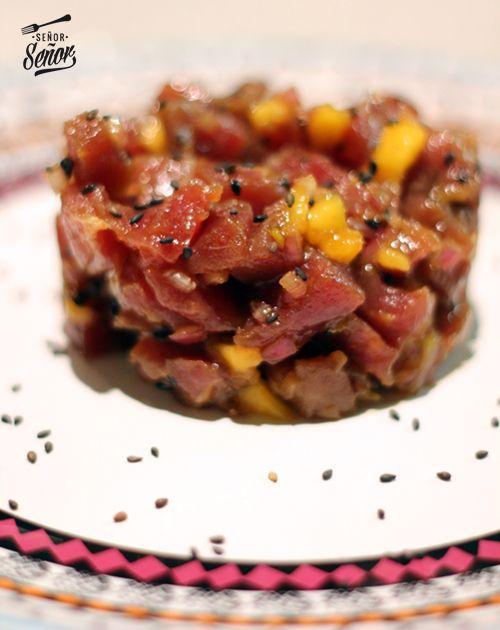 Tartar de atún rojo con mango