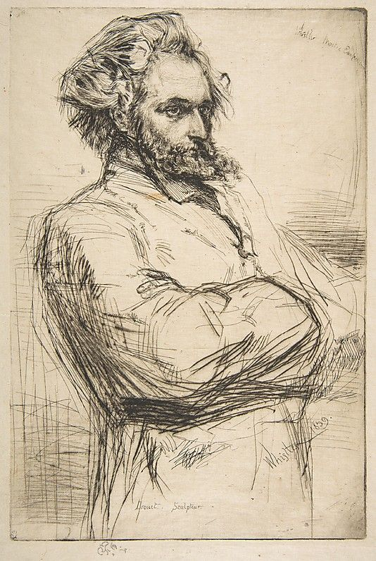 Whistler, 1859, etching, C.L. Drouet, Sculptor ✤ || CHARACTER DESIGN REFERENCES…