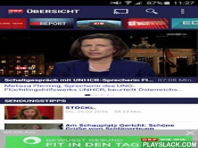 ORF TVthek: Video On Demand  Android App - playslack.com ,  Die ORF-TVthek – Österreichs erfolgreichste Videoplattform - stellt den Userinnen und Usern ein umfangreiches Video-on-Demand-Angebot von mehr als 200 Sendungen zur Verfügung: von Nachrichten, Magazinen, Dokus, Diskussions-, Kultur-, Sport- und Religionssendungen über Unterhaltung (Shows, Comedys, Filme, Serien) bis zu Regional- und Kindersendungen. Außerdem werden mehr als 200 Livestreams bereitgestellt sowie zahlreiche zeit- und…