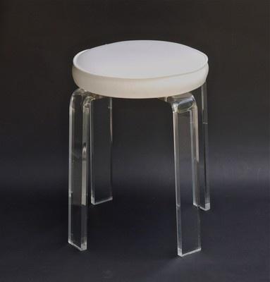 Vintage mid century modern lucite acrylic vanity stool chair - Acrylic vanity chair ...