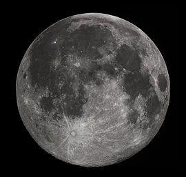 Luna piena vista dall' emisfero boreale della Terra