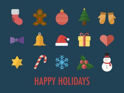 15 Christmas Icons