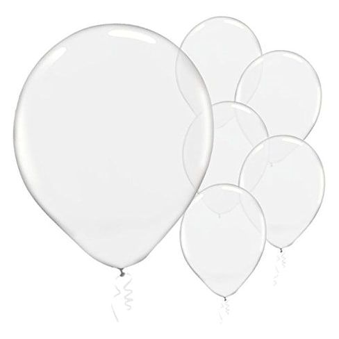 Amscan Enchanting Clear transparent Latex Balloons Decoration,12 ,Pack of 72.