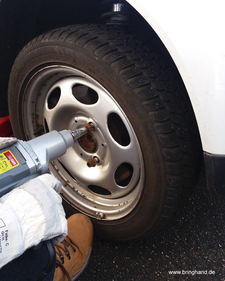 Radschrauben mit dem Schlagbohrer reindrehen!  #Reifenwechsel #DIY #Selbstmachen #Reifen #Winter #Sommer #Schlagschrauber