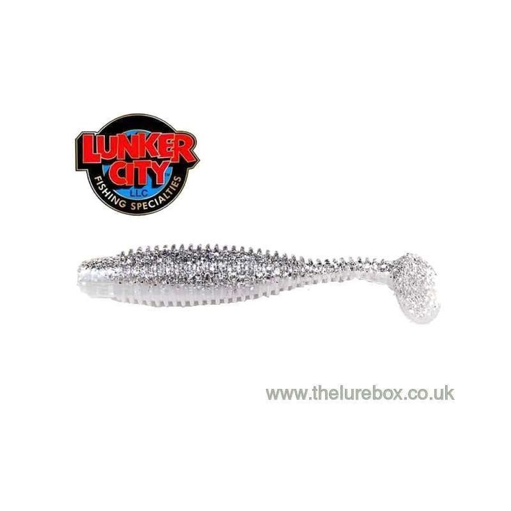 """Lunker City Grubster 4.25"""" Ice Shad"""