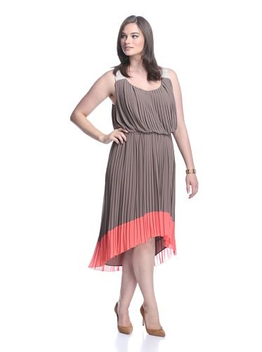 Jessica simpson pleated maxi dress plus size