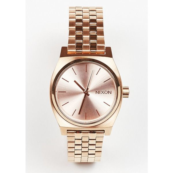 Nixon Uhr Medium Time Teller all rose gold