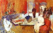 In the Red Room  by Edouard (Jean-Edouard) Vuillard
