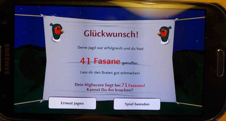 Schlosspark Nymphenburg: Wie viele Fasane erlegst du? #NymApp