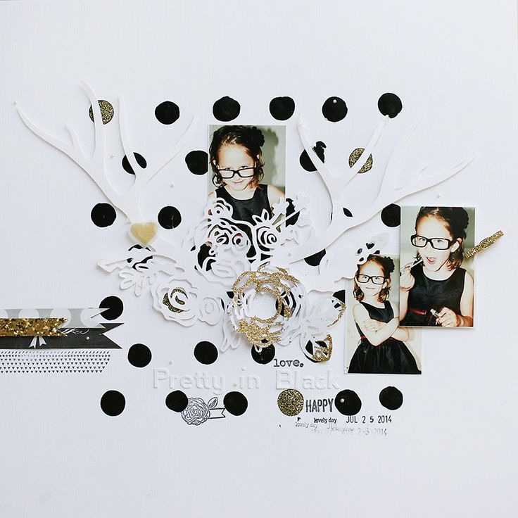 pretty in black | traditional scrapbooking page by todido