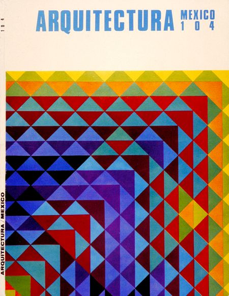 Arquitectura (mexico) magazine cover by Herbert Bayer, 1950s #geometric #patterns #graphic_design