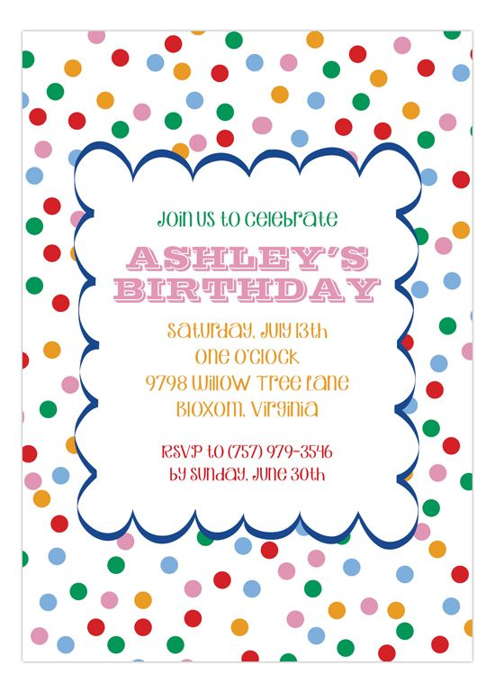 165 best Kids Birthday Invitations images – Design for Birthday Invitation