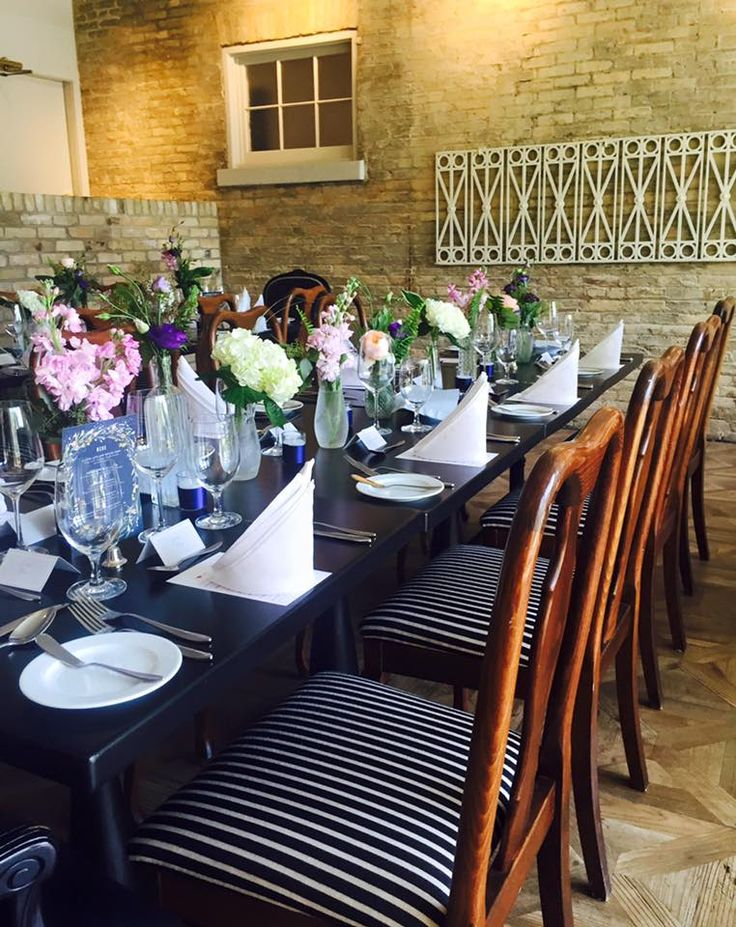 Our Carriage House Dining Room all ready for a sit down dinner