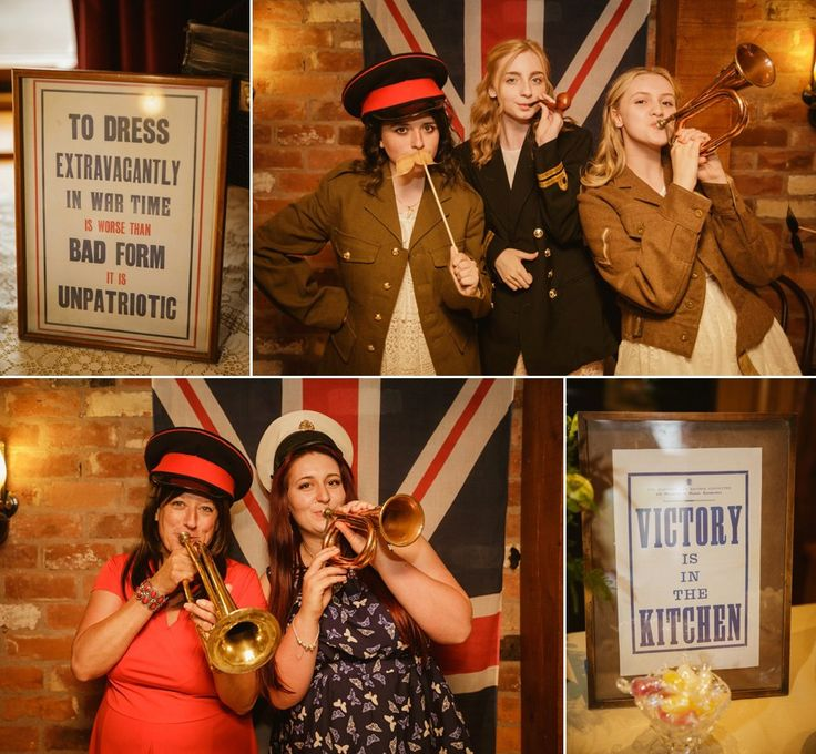 A 1940's and VE Day Celebration inspired wedding. Photography by Gemma Williams.