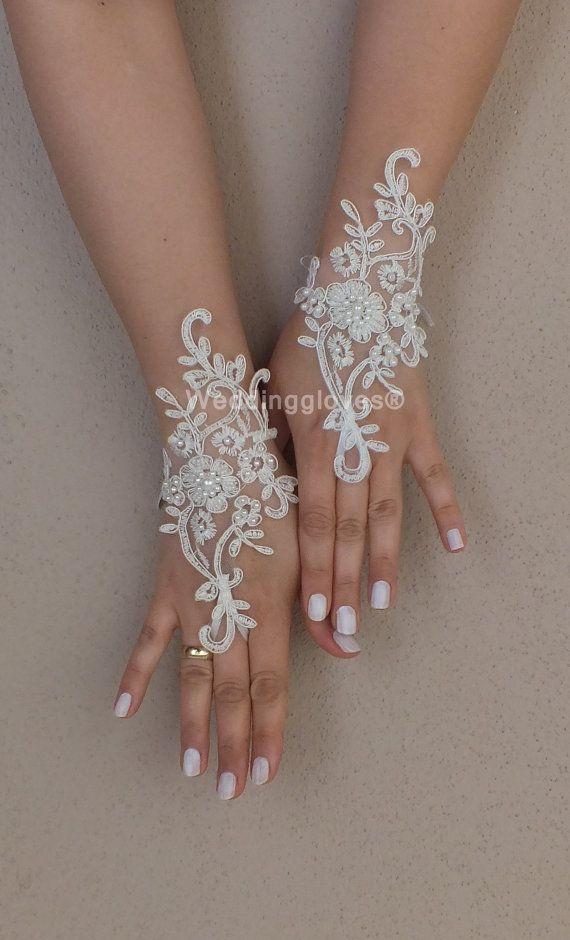 İvory Wedding Glove ivory lace gloves Fingerless by WEDDINGGloves, $30.00