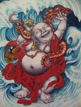 59 best laughing buddha and his wisdom images on pinterest for Happy buddha tattoo