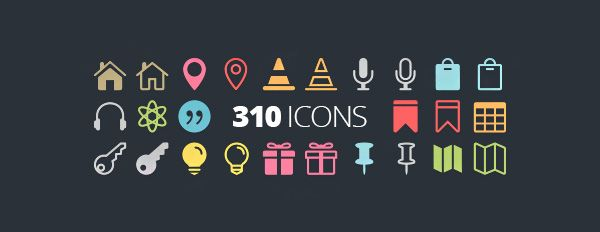 The Elegant Icon Font - 360 of the best free icons for the modern web