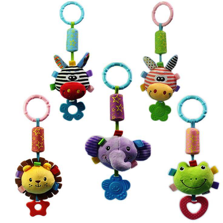 1ピース赤ちゃんtoys新しい幼児toys携帯赤ちゃんぬいぐるみベッド風チャイムガラガラベビーカー用新生児