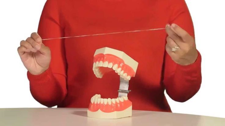 Learn more about what the American Dental Association has to say about flossing your teeth.