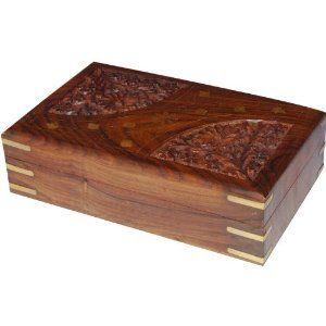 Boîte à bijoux fait main en Inde - Coffret carré en bois et laiton: ShalinCraft: Amazon.fr: Bijoux