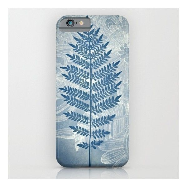 Jacaranda Leaf In Blue, Cream, Grey iPhone 6s Case ($35) ❤ liked on Polyvore featuring accessories, tech accessories and iphone & ipod cases