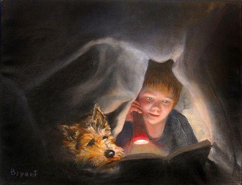 Reading Night and clandestine / Lectura nocturna y clandestina (ilustración de Les Bryant): Art, Reading Books, Les Bryant, Boy, Children Reading, Photo, Undercover Readers, Books Reading, Kid