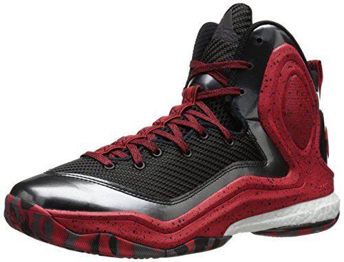 adidas Performance Men's D Rose 5 Boost Basketball Shoe,  Black/Scarlet/White, M US