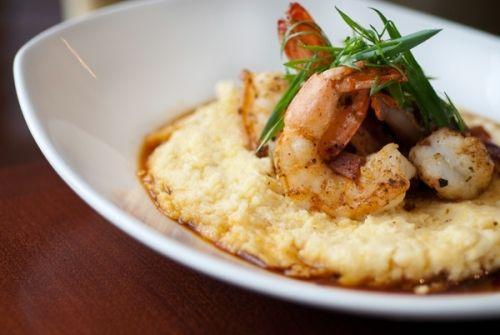 Sautéed Shrimp, White Cheddar Polenta, and Sweet Soy Agave Nectar | StarChefs