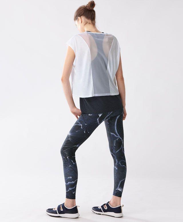 Goldfish legging, 29.99€ - Legging met oosterse print. Elastische tailleband met verstelbaar koord. Sneldrogende stof - Spring Summer 2017 trends in women fashion at Oysho.