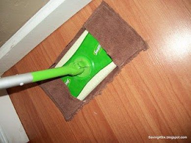 Swiffer covers from old towels