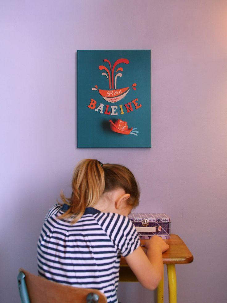 """""""Rire comme une baleine"""". Pour plus d'infos : hello@kidsarestrange.com."""
